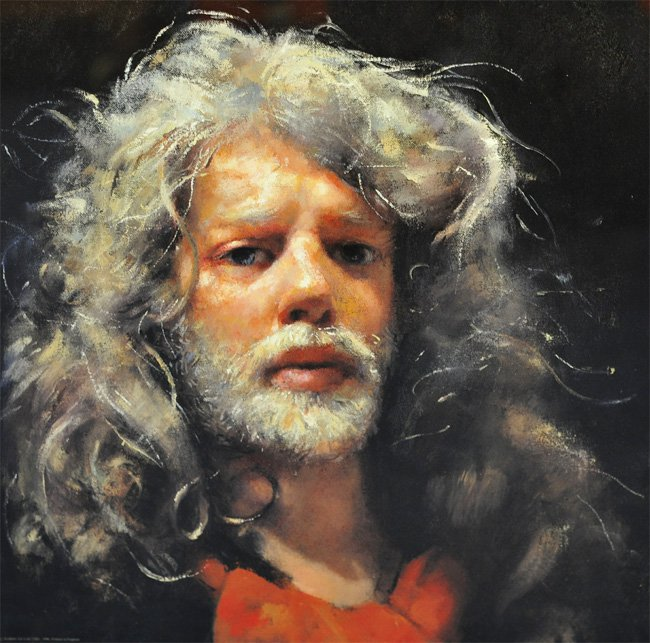 Robert Lenkiewicz self-portrait print