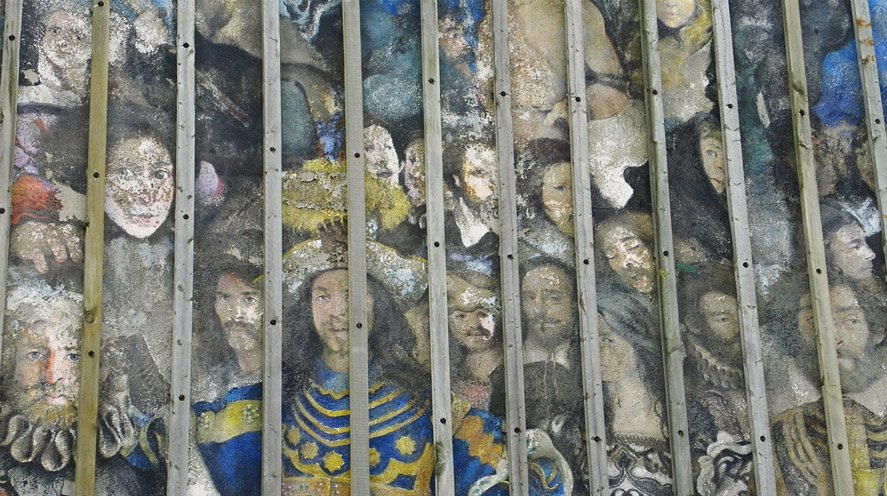 Detail of The Barbican Mural
