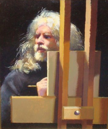Self-portrait at Easel